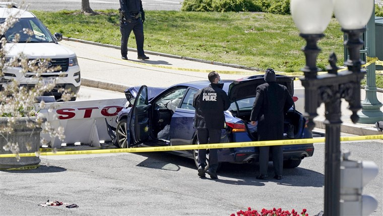 1 Officer Dead, 1 Injured After Car Rams Capitol Barrier Suspect Armed With Knife, Shot By Police