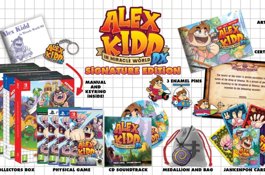 Alex Kidd in Miracle World DX Lands In June, Alongside With An Awesome Signature Edition