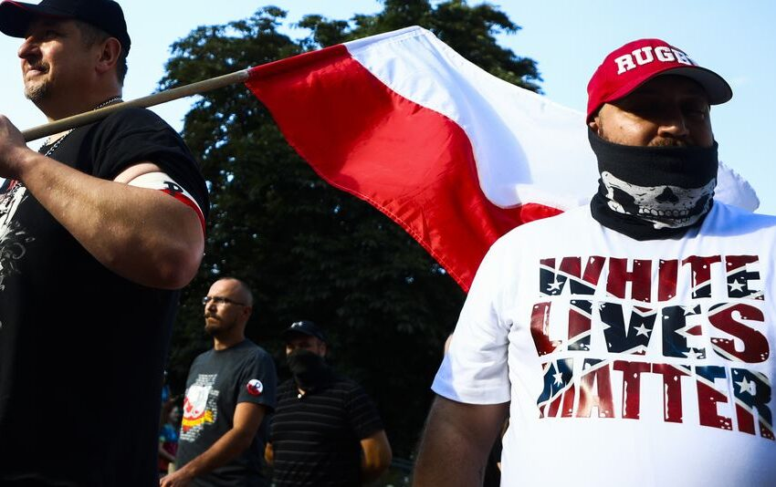 Antifascists out Proud Boys and Neo-Nazi groups in the relieve of 'White Lives Matter' rallies