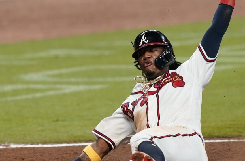 Ronald Acuna Jr. Exits Braves vs. Cubs with Belly Hurt