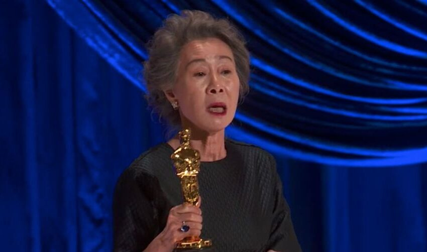 Youn Yuh-jung Shouts Out Nominees in Acceptance Speech: 'I'm Luckier Than You'