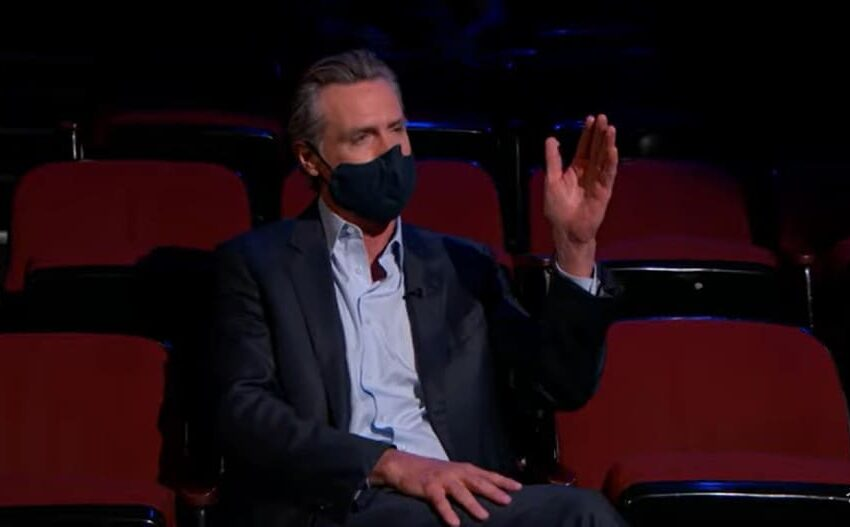 Kimmel Brings Out Gov Gavin Newsom to Indicate California's Vaccine Lotto (Video)