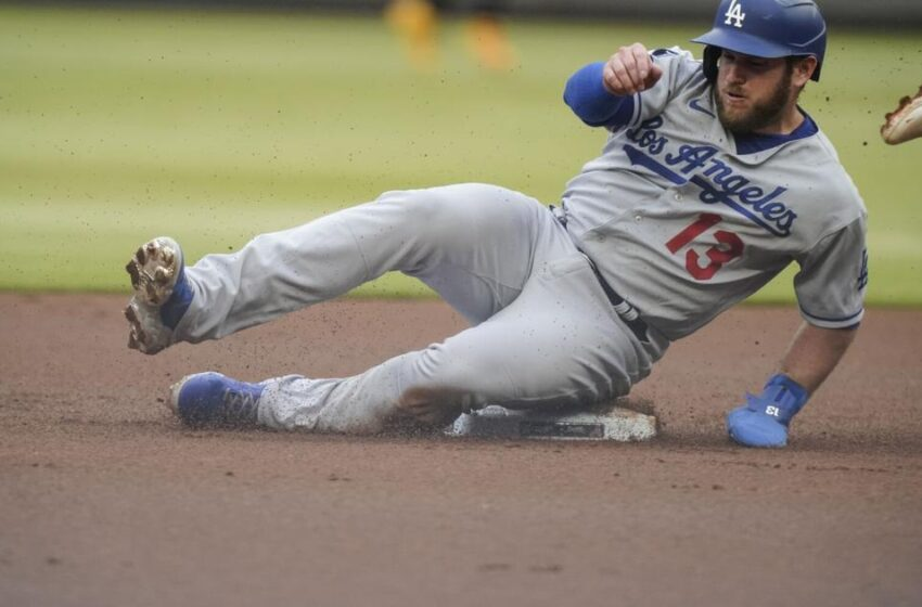 Taylor clears bases in 8-dart fifth, Dodgers beat Braves 9-5