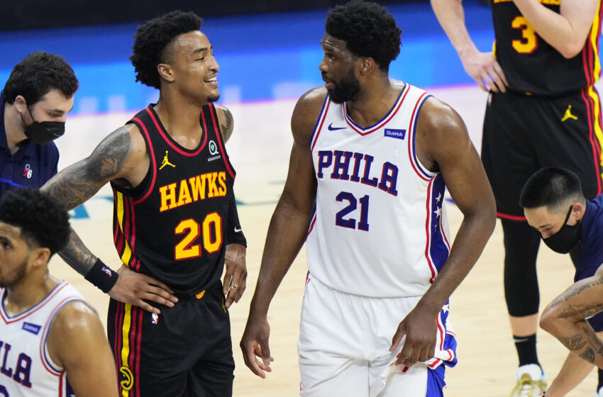 John Collins Wears Shirt With Photo of Dunk on Joel Embiid After Hawks Beat 76ers