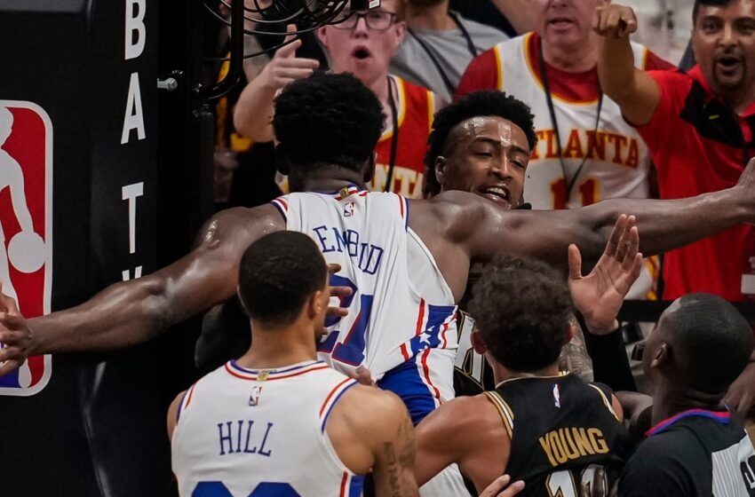 Sixers' Joel Embiid fined for Recreation 6 tussle with Hawks' John Collins