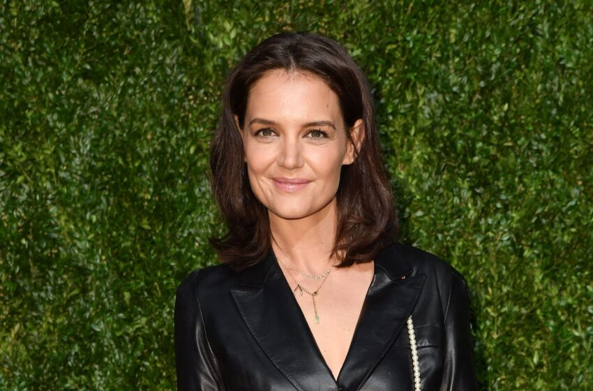 Add Katie Holmes's Gingham Midi Dress to Your Vogue Mood Board