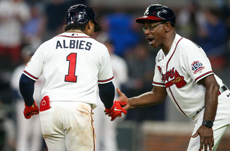 Ozzie Albies, Adam Duvall race yard as Braves high Nationals, 8-5