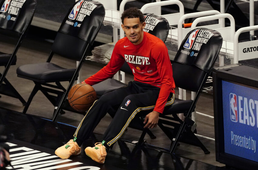 Hawks' Trae Younger Looks on WWE SmackDown at MSG, Trolls Knicks Followers