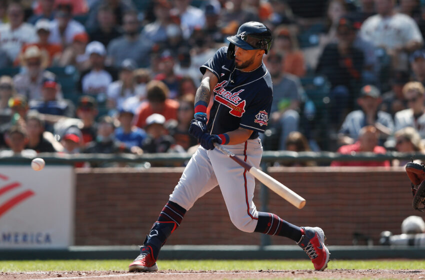 Braves' Eddie Rosario Hits For eighth Cycle in Franchise Historical previous vs. Giants