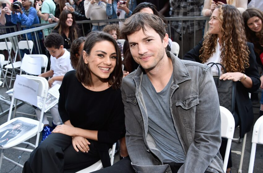 Mila Kunis and Ashton Kutcher Wore the Preppiest Outfits for a Rare Purple-Carpet Appearance