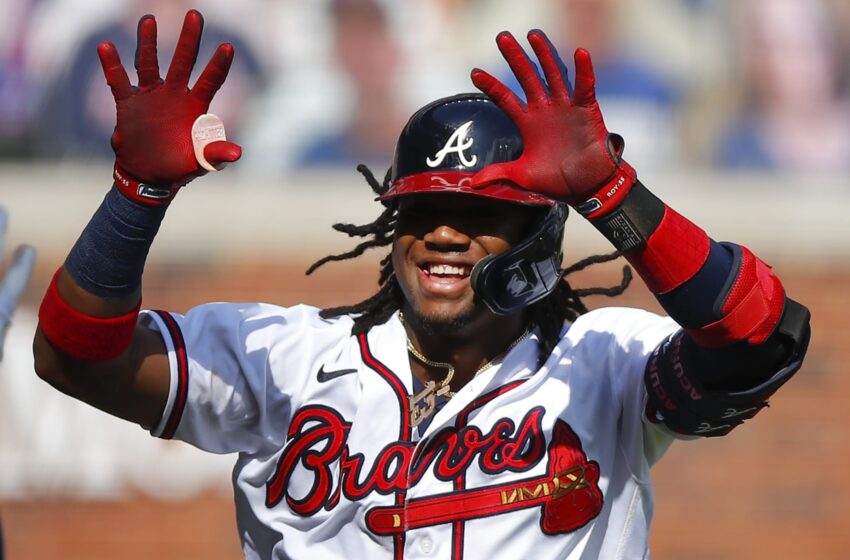 Ronald Acuña Jr. lost his mind on IG are residing when the Braves clinched a region within the NLCS
